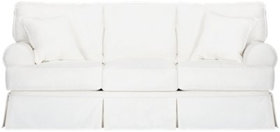 Image Of Harris White Fabric Sofa With Sku:3312050
