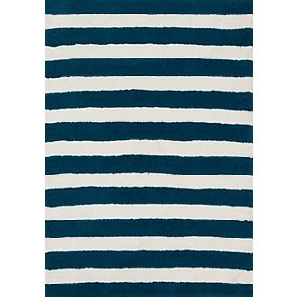 Lola Dark Blue 3X5 Area Rug