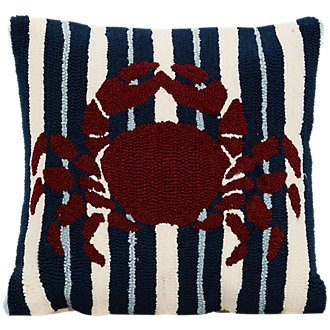 Crab Red Indoor/Outdoor Accent Pillow