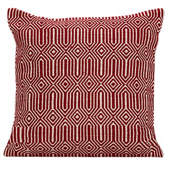 Daria Red Indoor/Outdoor Accent Pillow