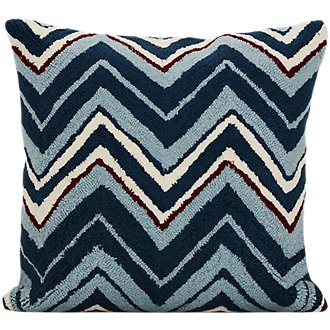 Chevron Blue Indoor/Outdoor Accent Pillow