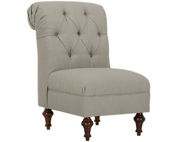 Lorna2 Gray Fabric Accent Chair