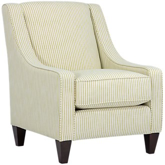 Poppy2 Green Stripe Accent Chair