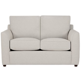 Asheville Light Taupe Fabric Loveseat