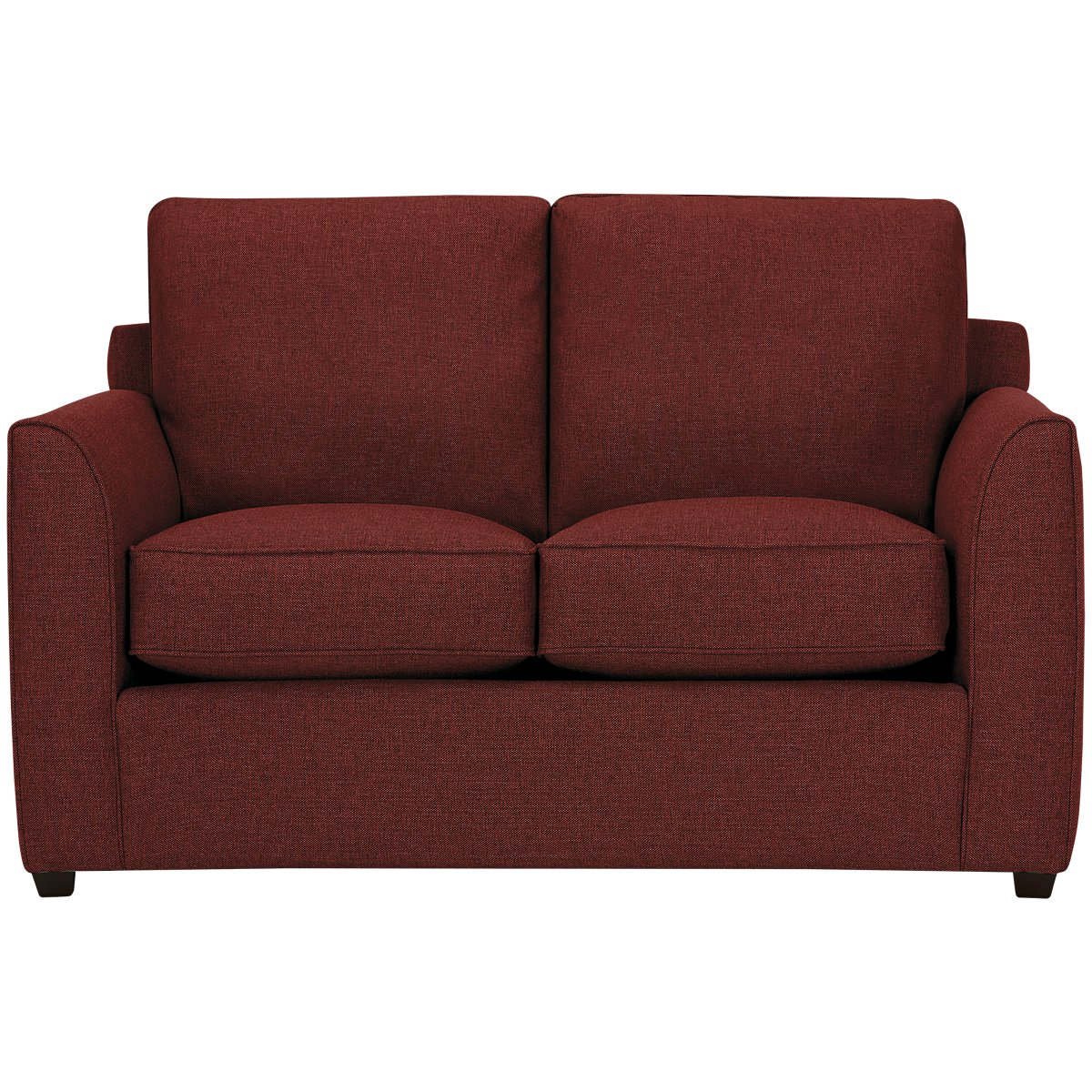 City Furniture Asheville Red Fabric Loveseat