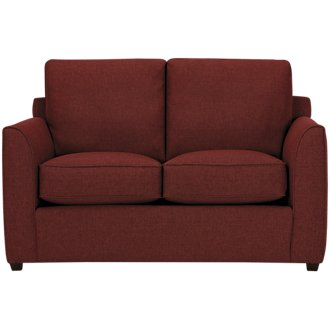 Asheville Red Fabric Loveseat