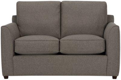 City Furniture Asheville Brown Fabric Loveseat