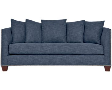 Wren Dark Blue Fabric Sofa