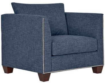 Wren Dark Blue Fabric Chair