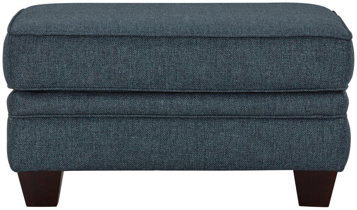 City Furniture Avery Dark Blue Fabric Ottoman