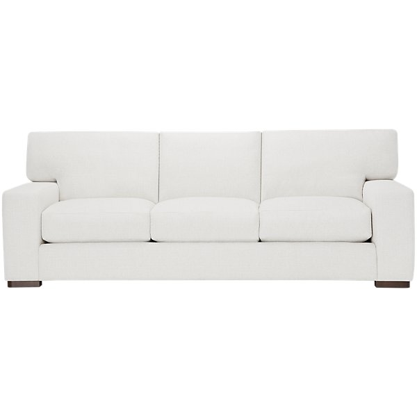 Image Of Veronica White Fabric Large Sofa With Sku 4708150