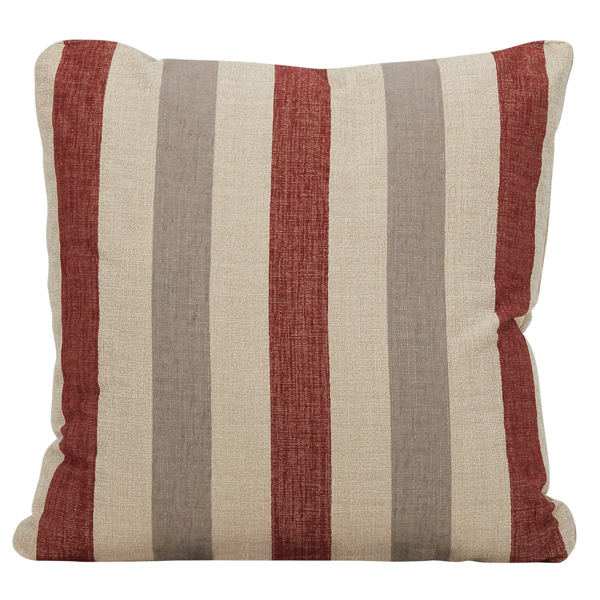 City furniture snapback red fabric square accent pillow - Fabric for throw pillows ...