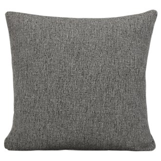 Asheville Gray Fabric Square Accent Pillow