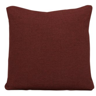 Asheville Red Fabric Square Accent Pillow