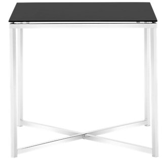 Kross Black Glass Square End Table