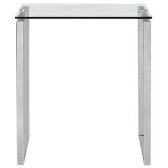 Katrina Glass Square End Table