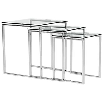 Katrina Clear Glass Nesting End Table