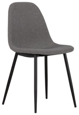miles gray upholstered side chair - White Wood Dining Chairs