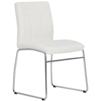 Caleb White Upholstered Side Chair