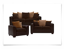 Safari Two-Tone Microfiber Living Room