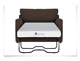 Express3 Dk Brown Microfiber Memory Foam Sleeper