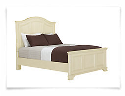 Claire White Panel Bed