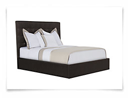 Lynx Dk Brown Bonded Leather Platform Bed