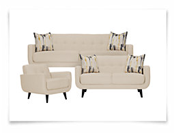 Hadley Beige Fabric Living Room