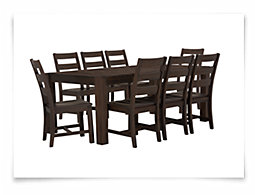 Holden Mid Tone Rectangular Table & 4 Wood Chairs