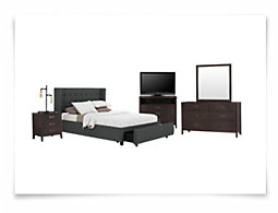 Chatham Dark Gray Low Platform Storage Bedroom Package