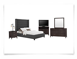 Chatham Dark Gray High Platform Bedroom Package