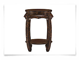 Rivas Red Accent Table