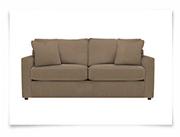 Express3 Lt Brown Microfiber Sofa