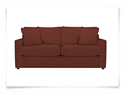Express3 Red Microfiber Sofa