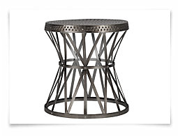 Lucas Pewter Round Accent Table
