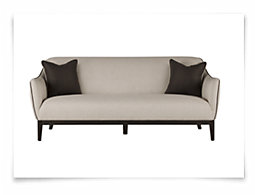 Carrie Beige Fabric Sofa