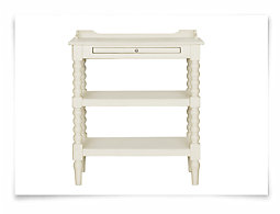 Harbor View White Open Nightstand