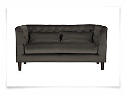 Robin Dark Gray Microfiber Loveseat
