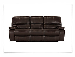 James Dark Brown Microfiber Reclining Sofa