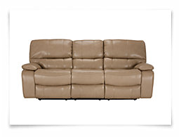 James Dark Taupe Microfiber Reclining Sofa