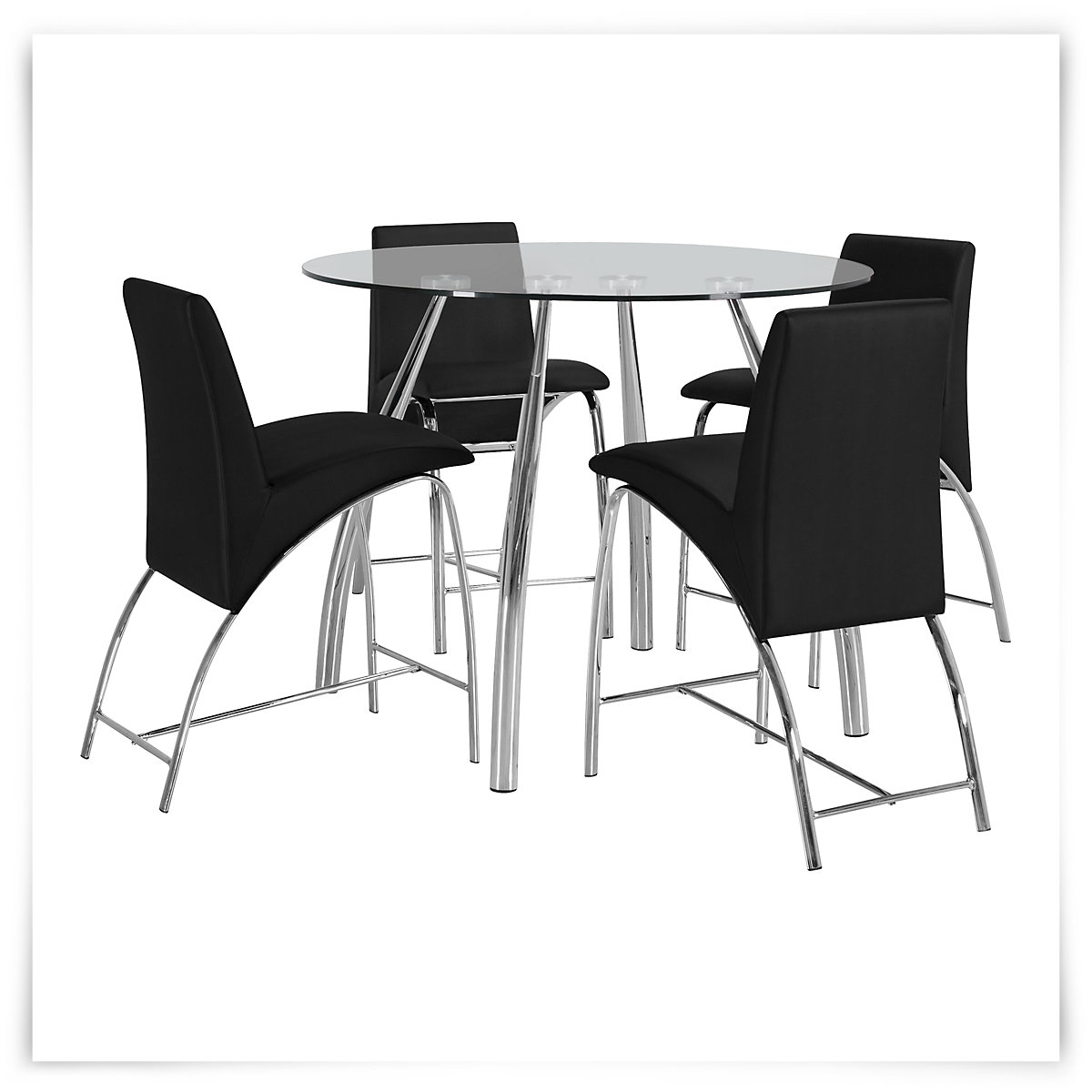 City Furniture Mensa Round Glass High Dining Table