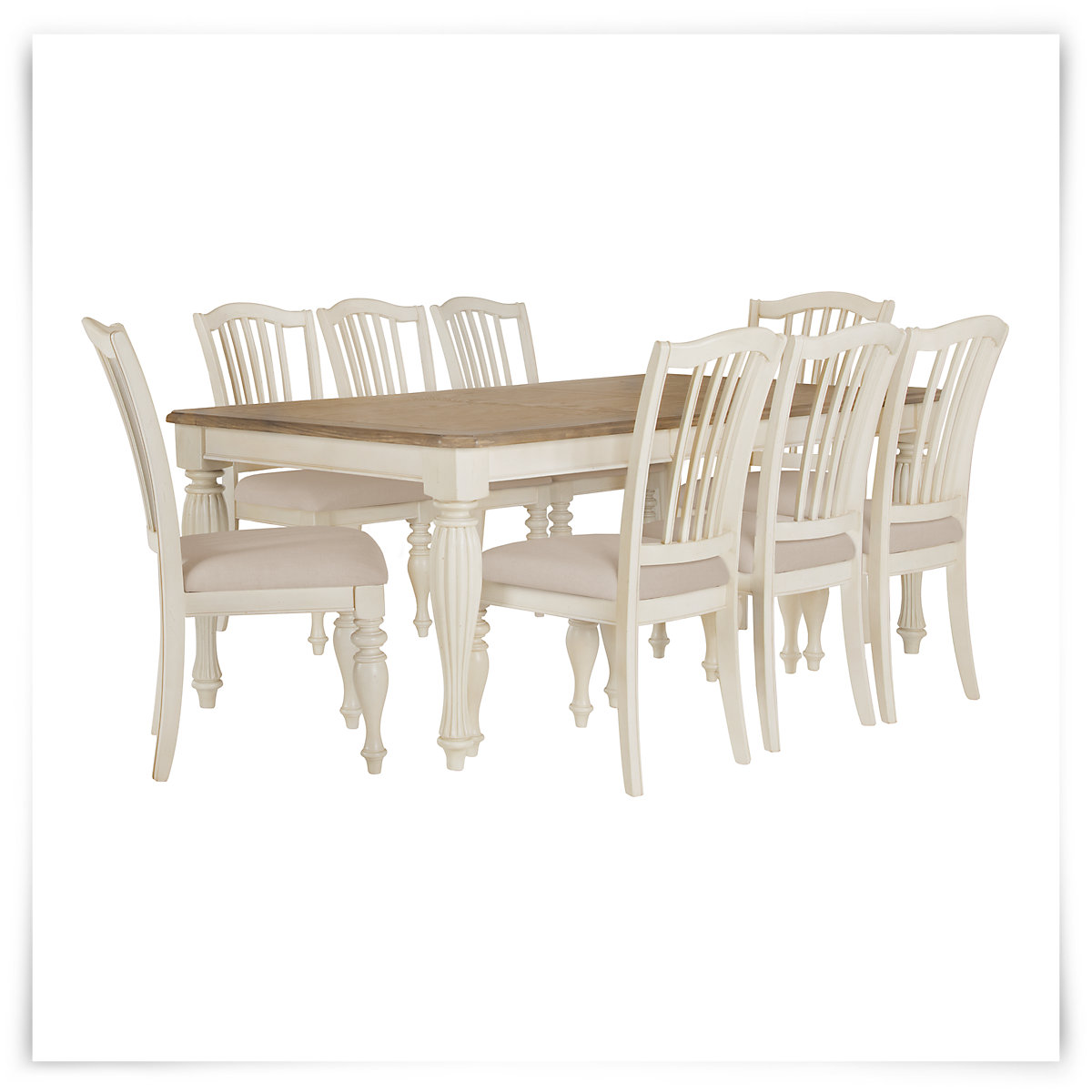 city furniture coventry two tone rectangular table 4 wood chairs