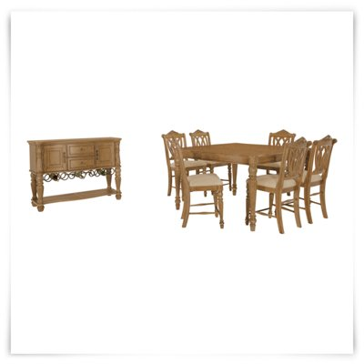 City Furniture Tradewinds Light Tone Square High Dining Room