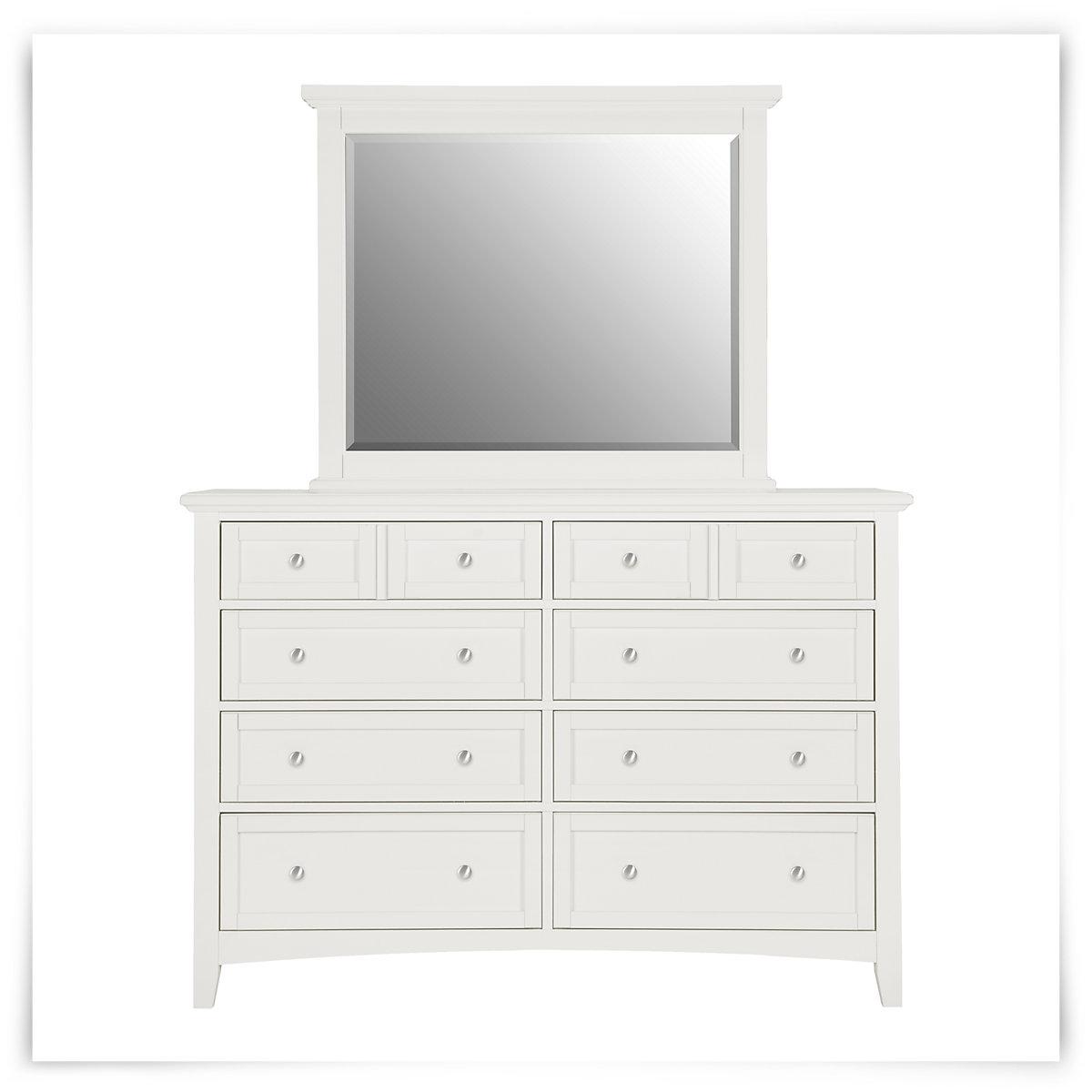 city furniture captiva white dresser mirror