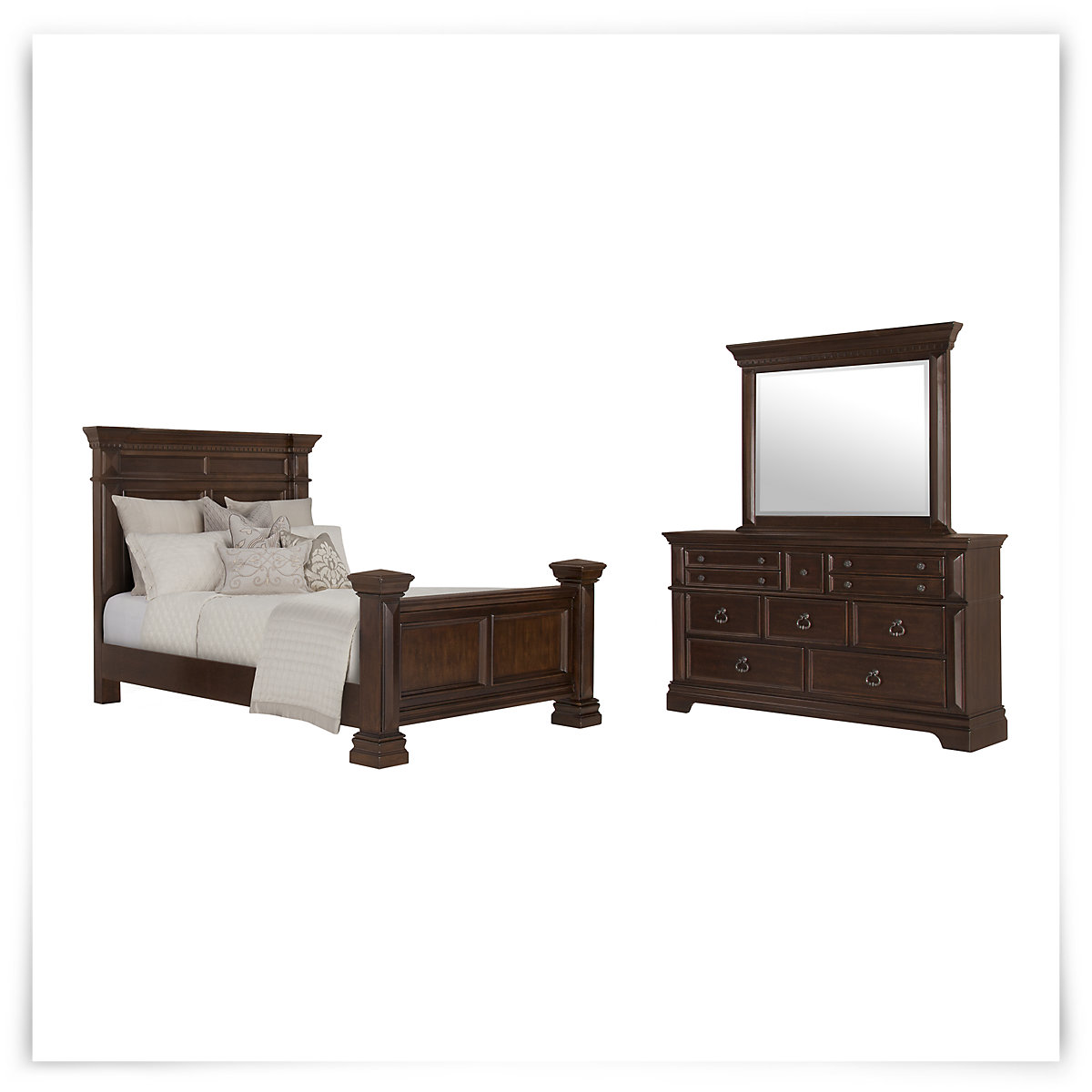 City furniture essex dark tone panel bedroom for Bedroom furniture essex