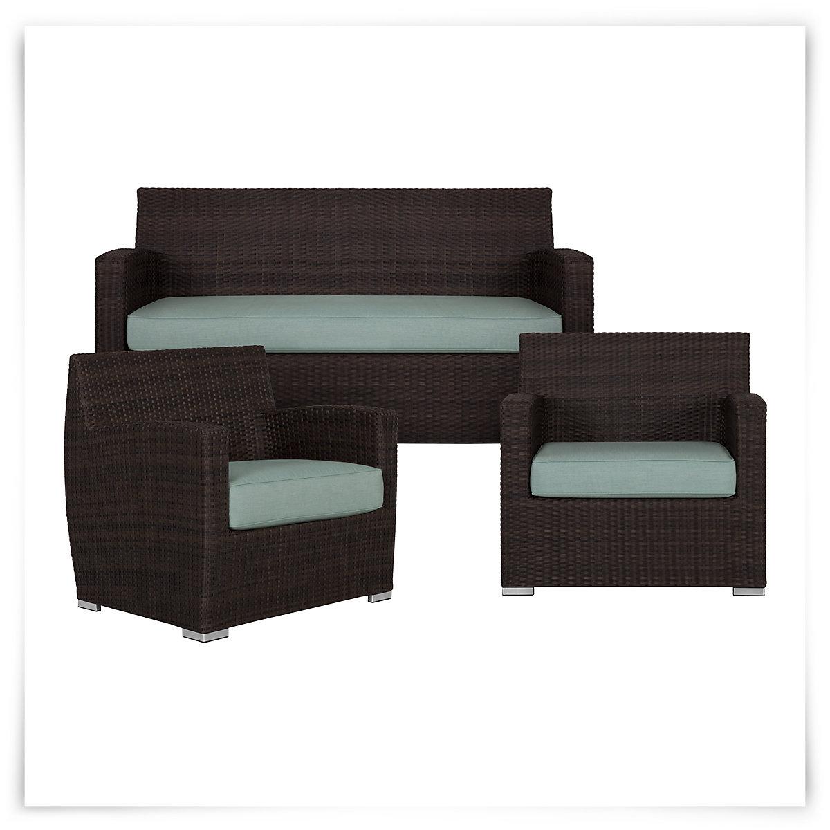 City Furniture Grate Teal Outdoor Living Room Set