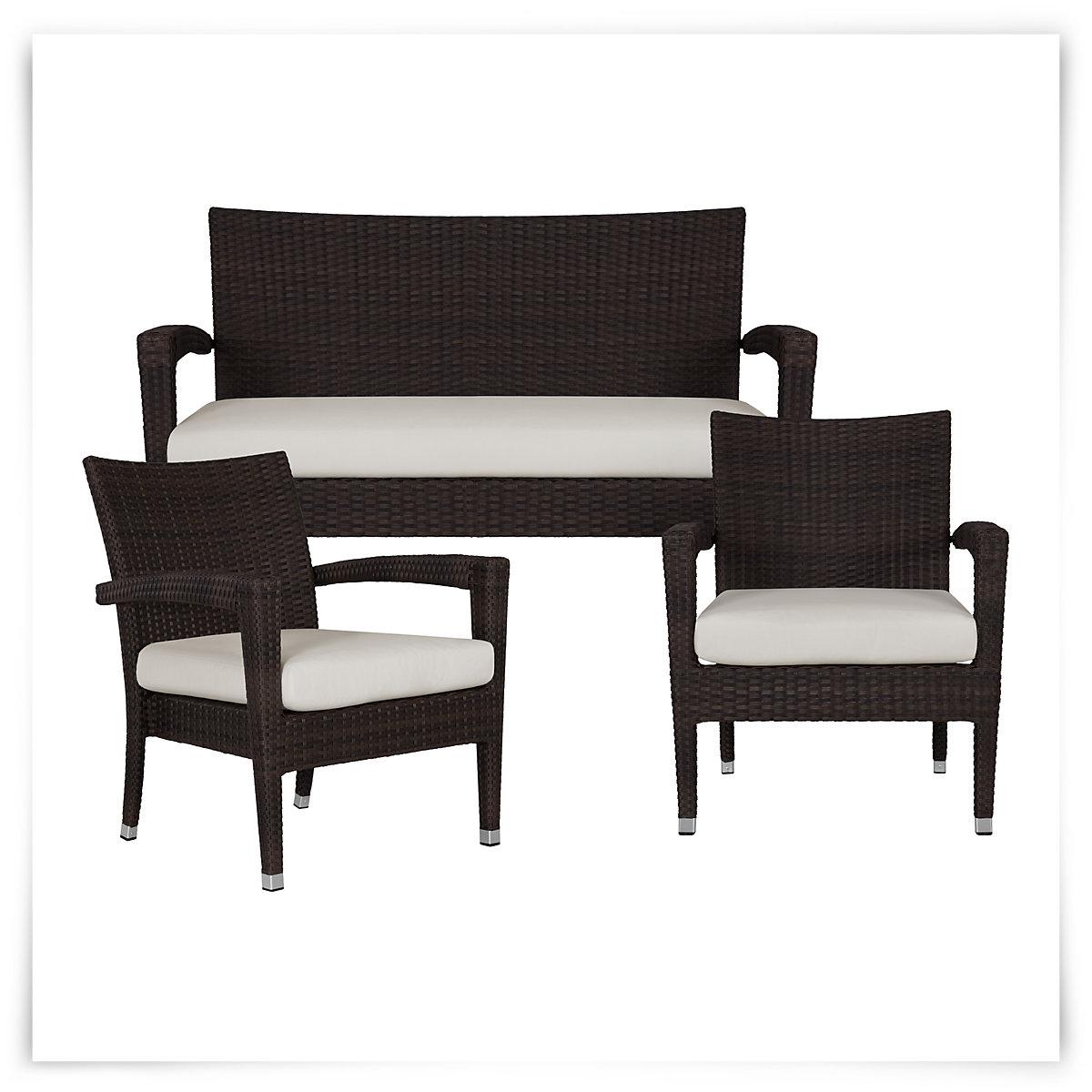 City Furniture Zen White Outdoor Living Room Set