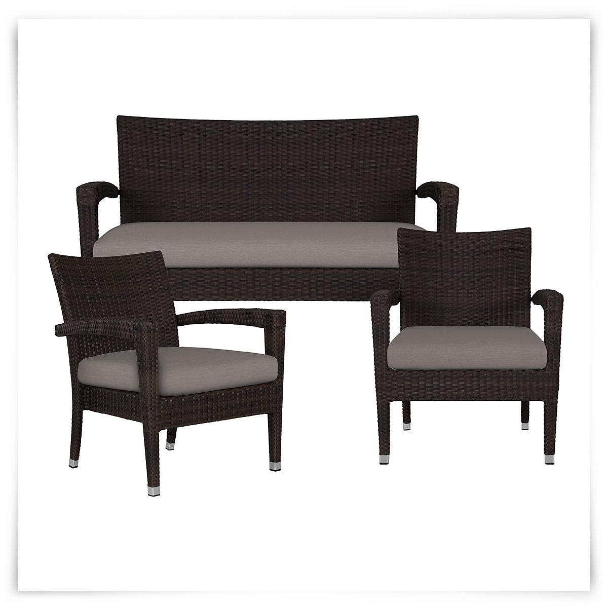 City Furniture Zen Gray Outdoor Living Room Set