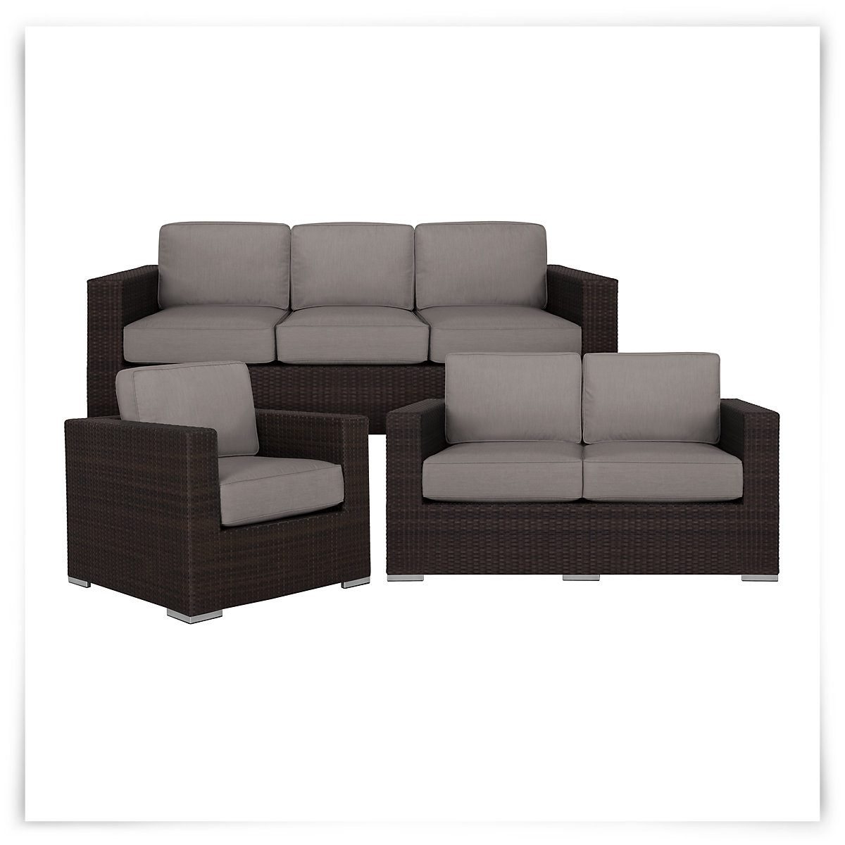 city furniture fina gray outdoor living room set