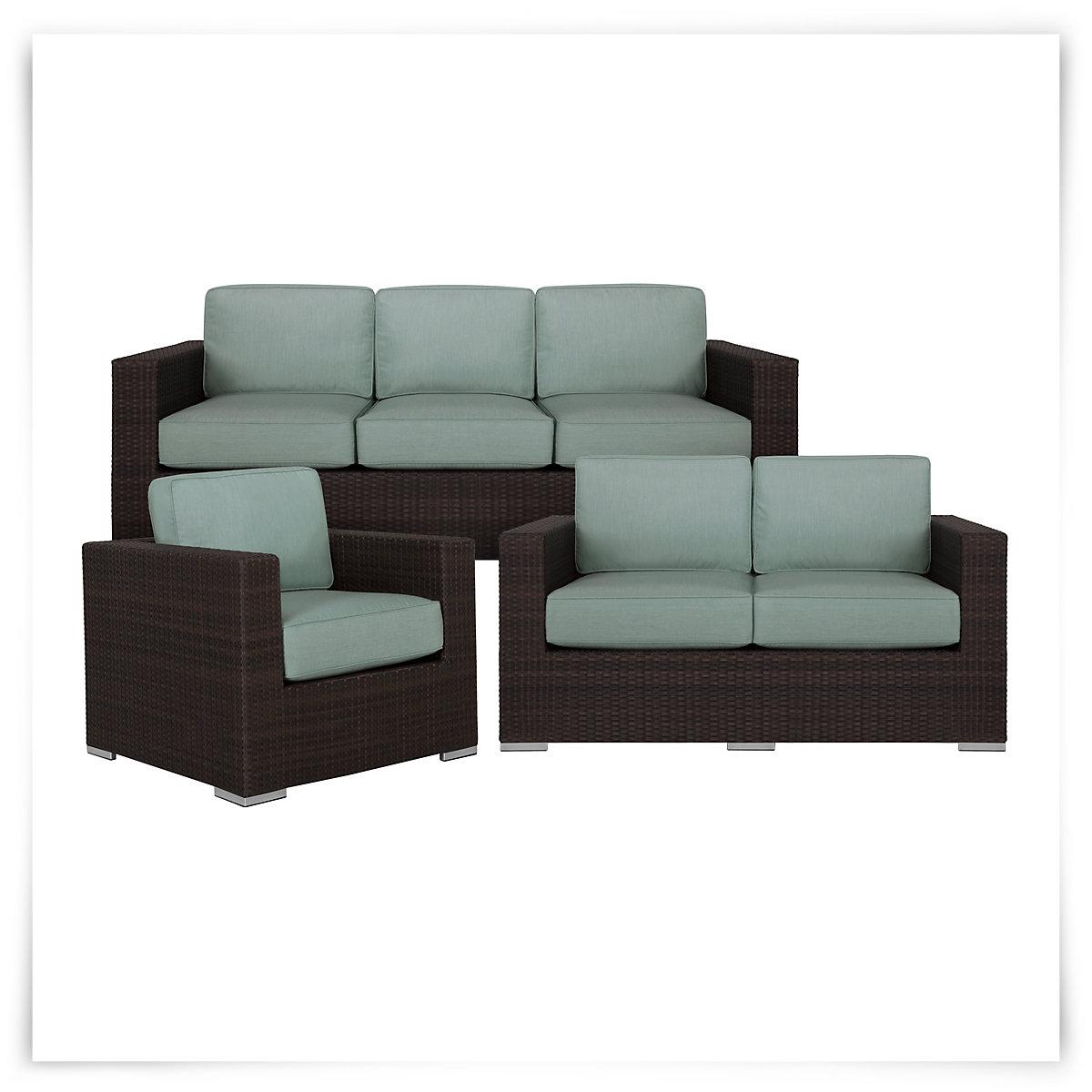 City Furniture Fina Teal Outdoor Living Room Set